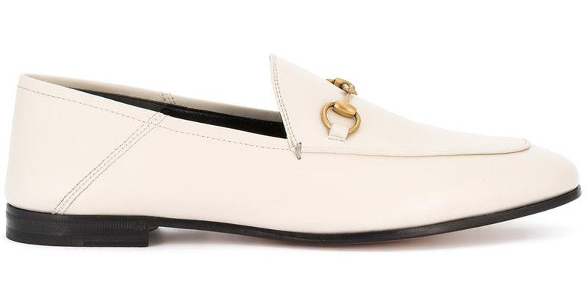 0407896ec08 Gucci Brixton Loafers in White - Lyst