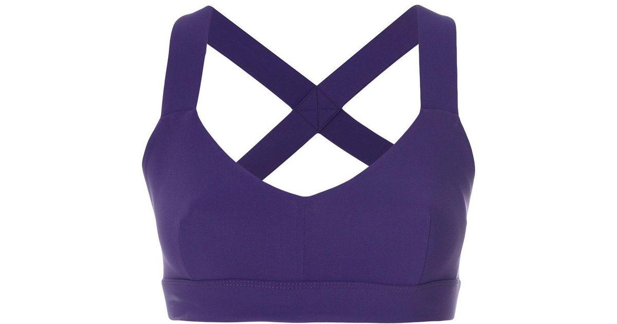 31a1ab9c38 Lyst - NO KA  OI Crisscross Strap Top in Purple