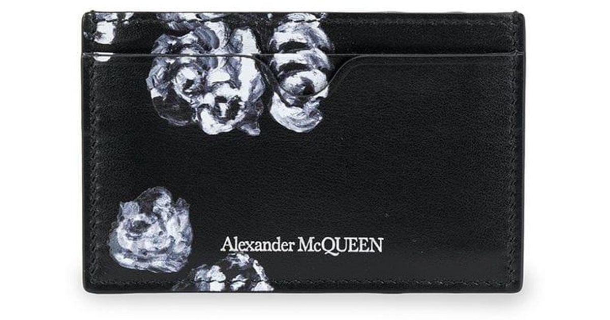 NWT ALEXANDER MCQUEEN camouflage skull wallet cardholder  new