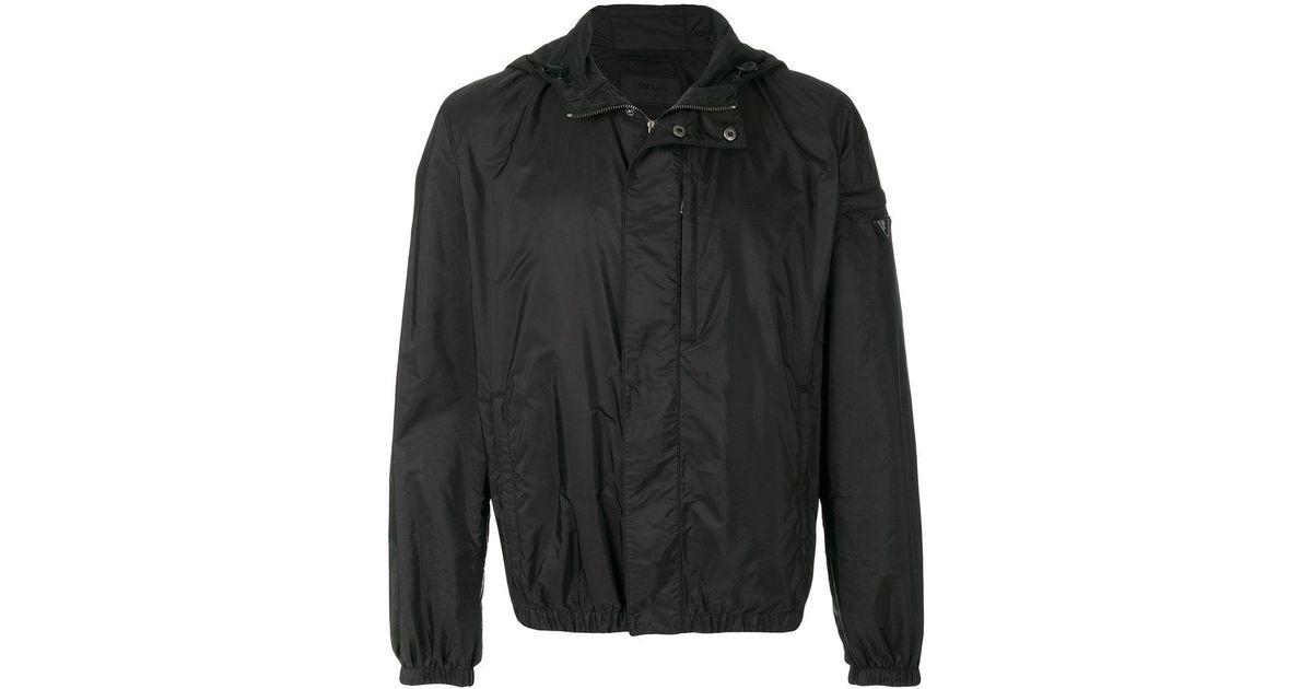 Discount Best Sale Sale Find Great hooded wind jacket - Black Prada For Sale Cheap Real wVhONp1i
