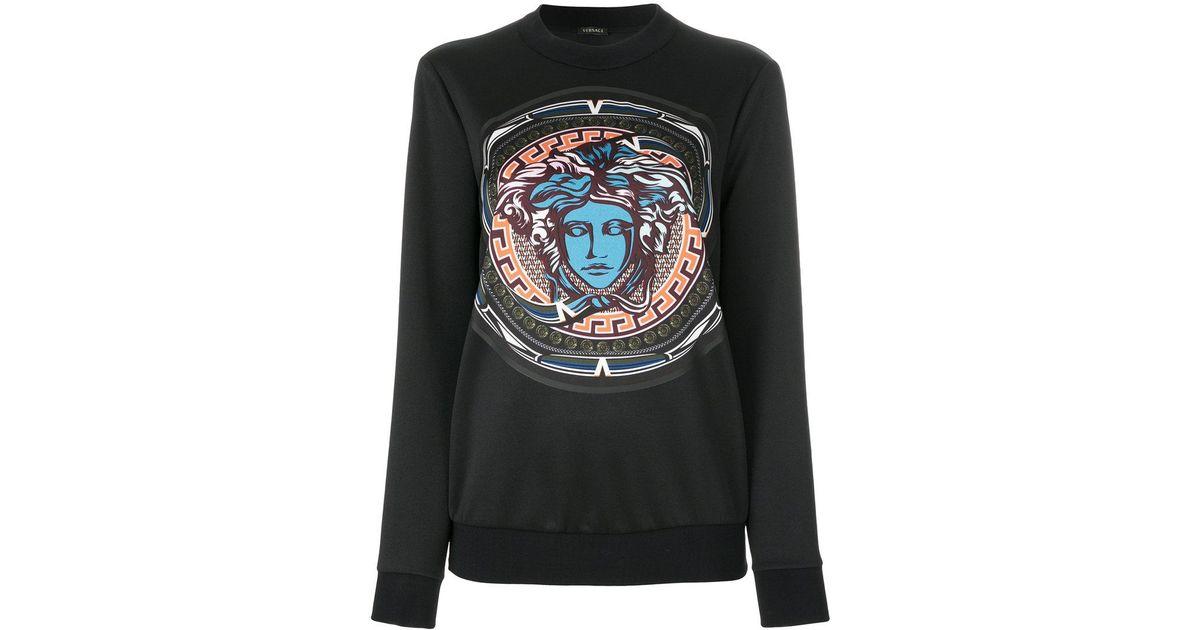 Noir Medusa Versace Sweat En Coloris Imprimé Lyst Y5qA0x 0c7f84fde2c