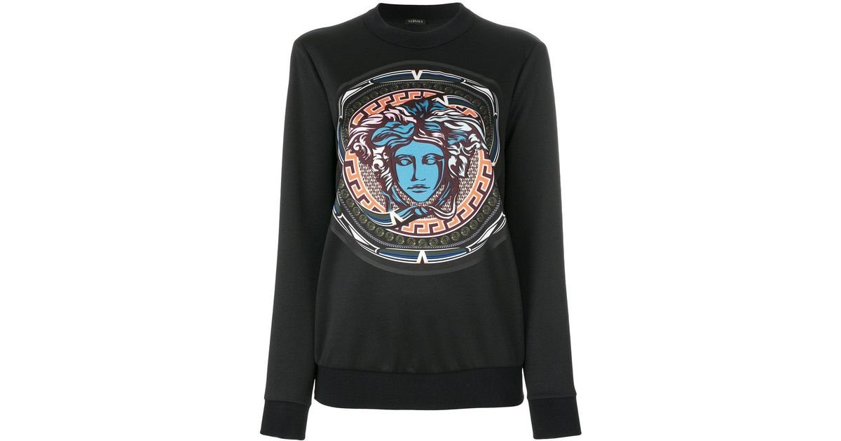 Noir Medusa Versace Sweat En Coloris Imprimé Lyst Y5qA0x 44ca8b139e2