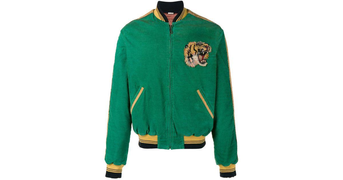 2ea6cfe02 Gucci Green Corduroy Bomber Jacket for men