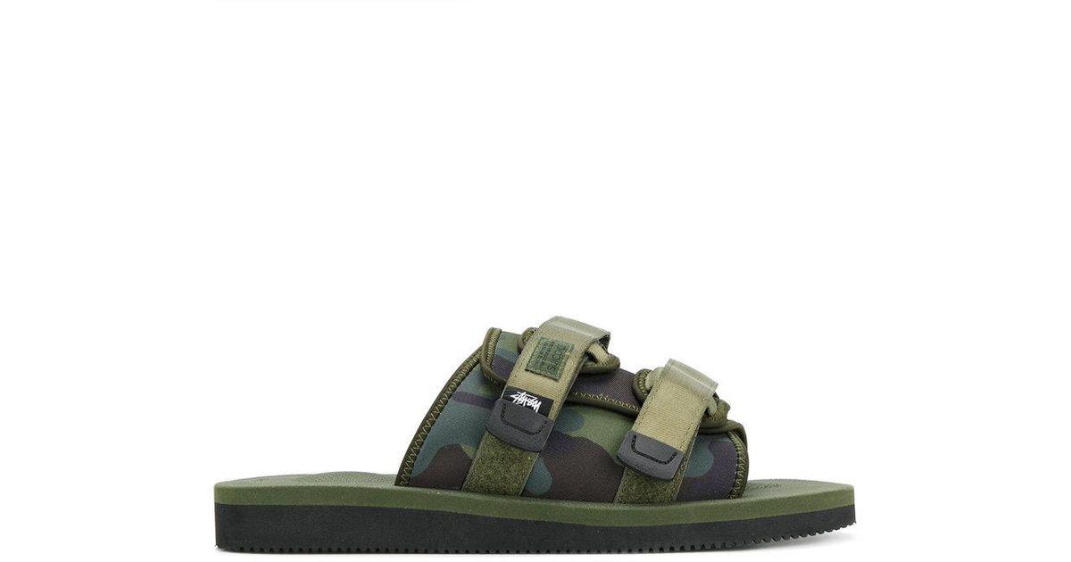 a7460b5ec33 Suicoke Moto Stu Sandals in Green for Men - Lyst