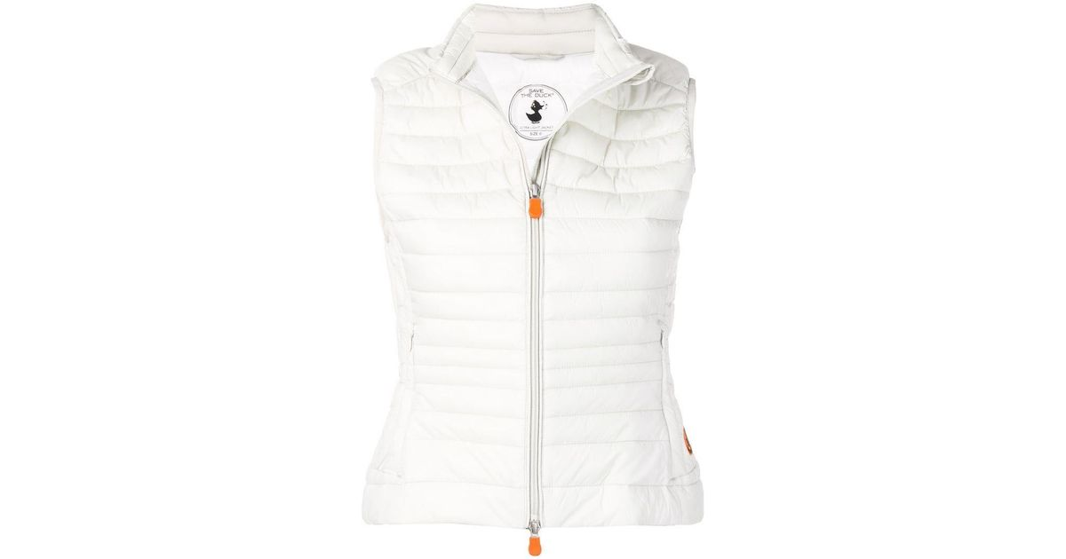 190796be0ec Lyst - Save The Duck Quilted Fitted Gilet