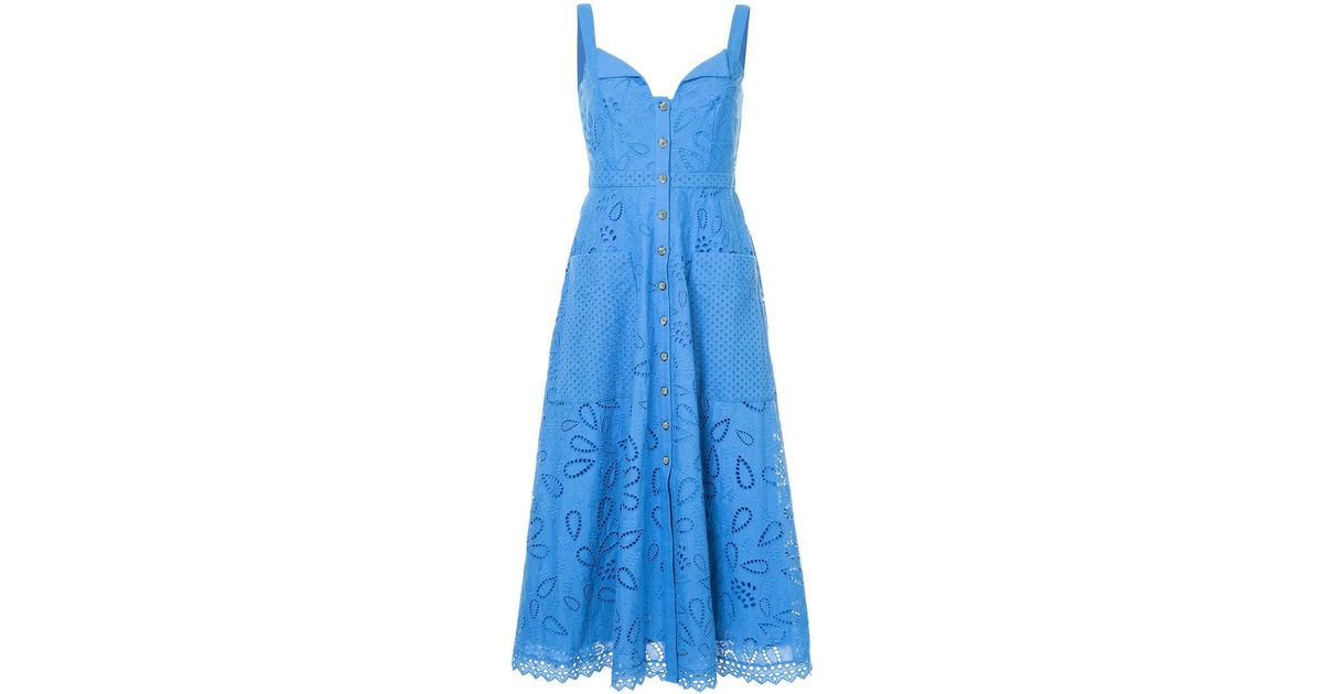 crochet embroidered midi dress - Blue Saloni Buy Cheap Pictures sZIiaxiOf