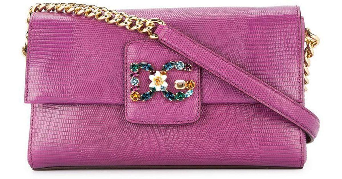 9c0d13231e3 Dolce & Gabbana Dg Millennials Shoulder Bag in Purple - Lyst