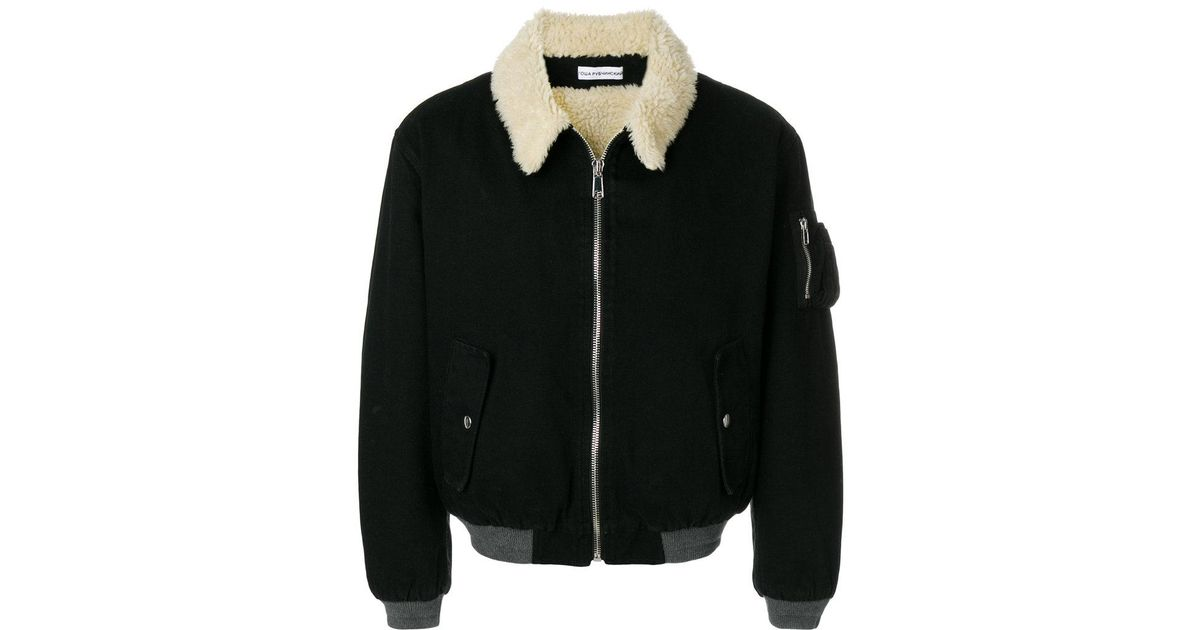 686c43dd9 Gosha Rubchinskiy Shearling Collar Bomber Jacket in Black for Men - Lyst