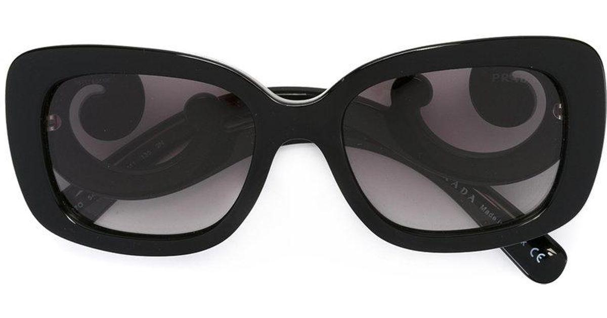 5ef7bc5397e6 ... reduced lyst prada baroque sunglasses in black e9694 2c304
