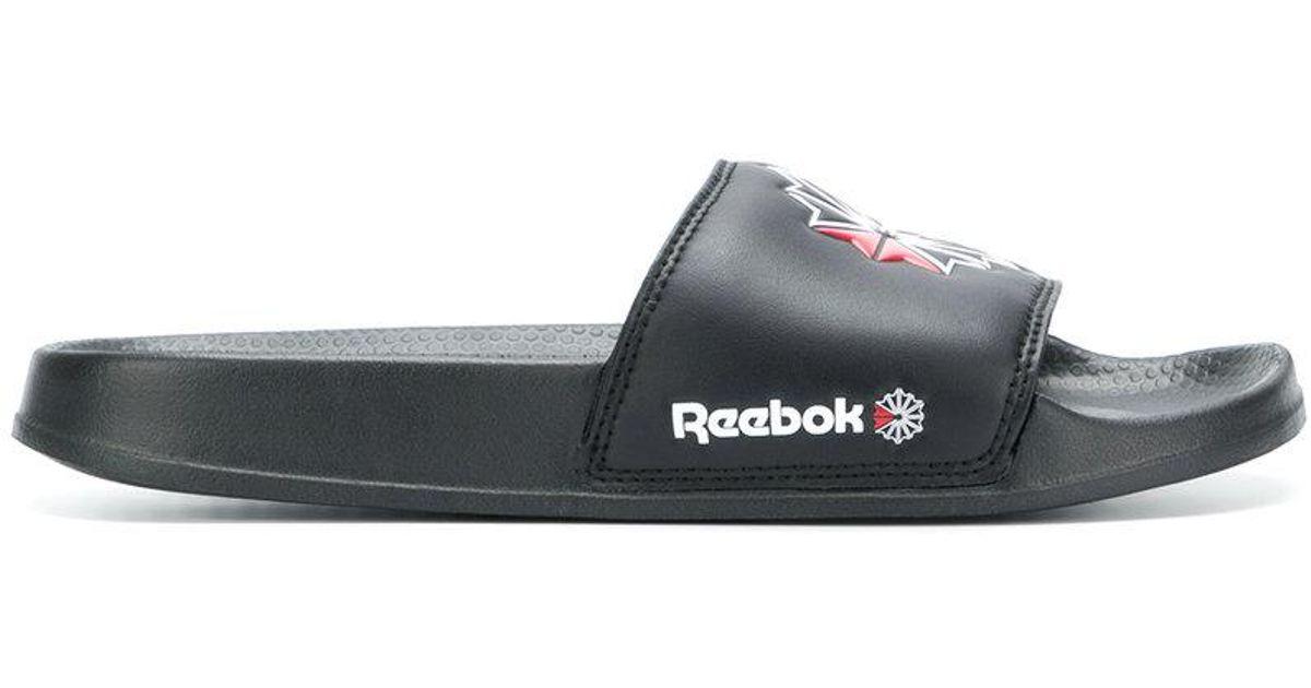 f9c06235c282 Lyst - Reebok Classic Logo Slides in Black for Men