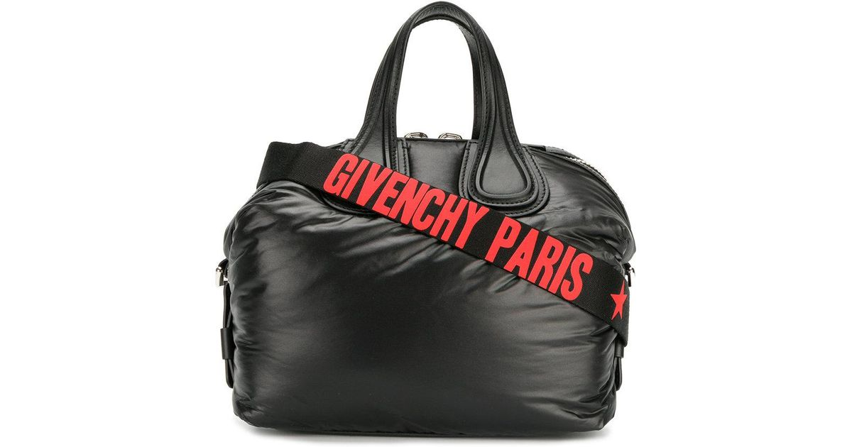 455240332d Givenchy Faux Leather Nightingale Tote in Black - Lyst