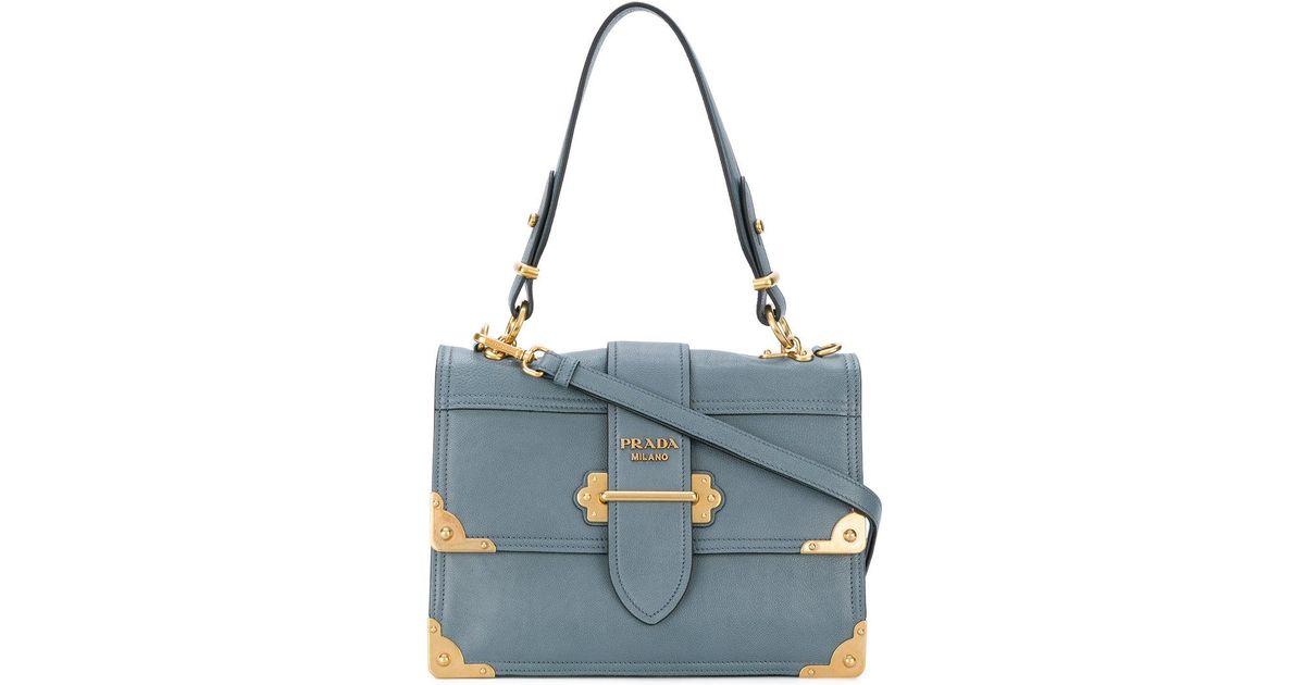81f2fb58cfdc Lyst - Prada Cahier Shoulder Bag in Blue