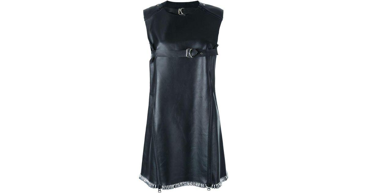 23b048dbc622 Lyst - Ktz Leather Swing Dress in Black