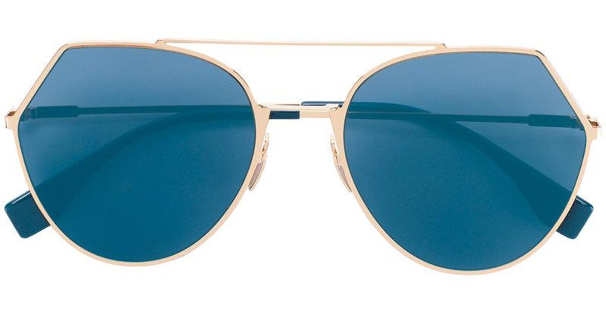 306a5072c57ac Fendi Eyeline Sunglasses in Metallic - Lyst
