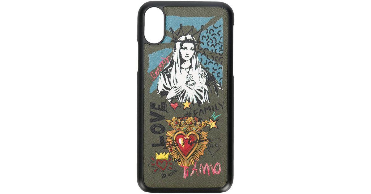 big sale d5e8a 7a775 Dolce & Gabbana Green Madonna Iphone X Case for men