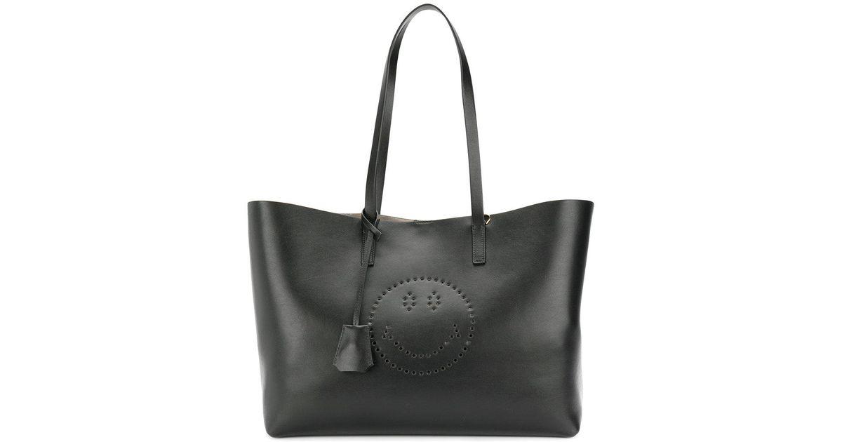 50479ef6b0f2 Lyst - Anya Hindmarch Smiley Ebury Shopper Tote in Black
