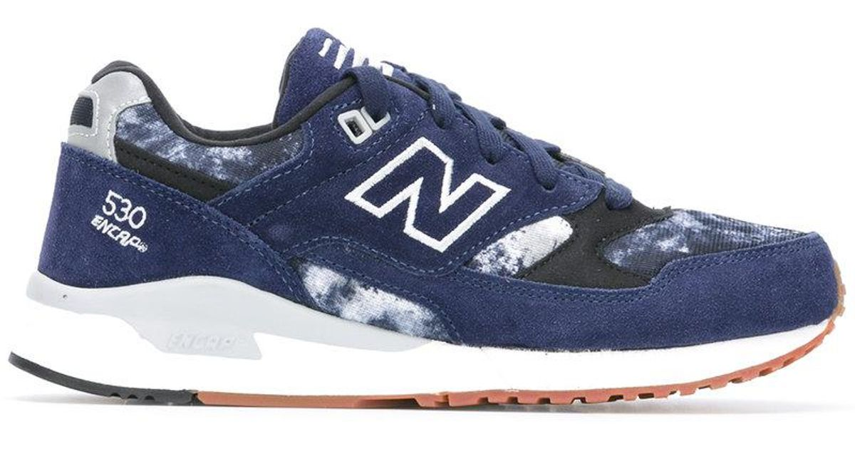 pretty nice 5b2aa 5660d New Balance Blue 530 'encap' Logo Trainers