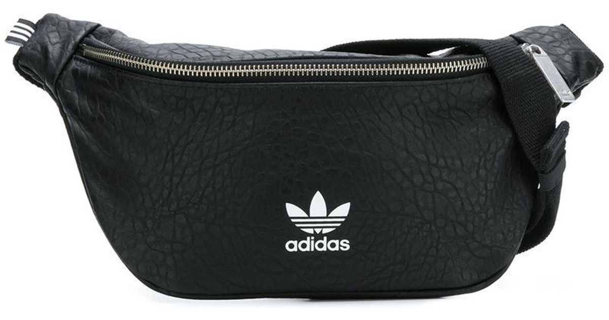 94fbcc8e8f Adidas Black Originals Snakeskin-effect Logo Belt Bag for men