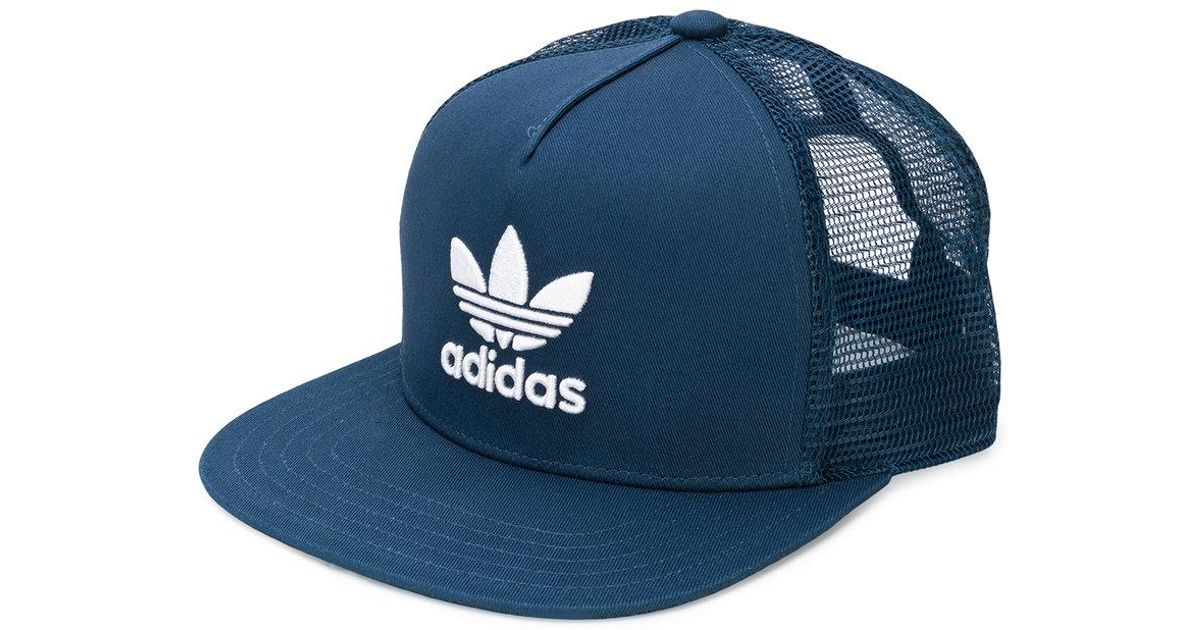 quality products first rate great deals Adidas Blue Originals Trefoil Heritage Trucker Cap for men