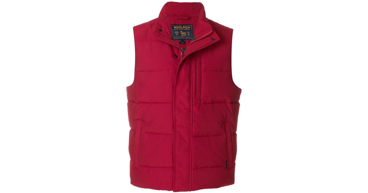61969856a09 Woolrich Padded Gilet in Red for Men - Lyst