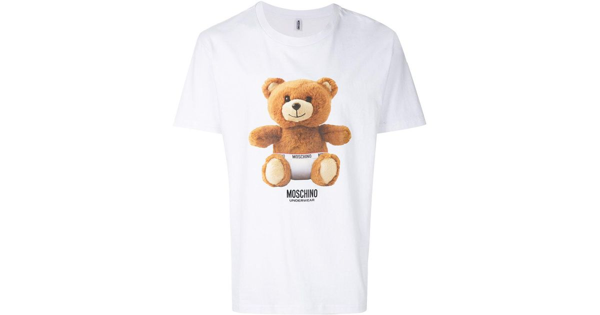 Mans Moschino Toy UnderBear Under Bear Cool Summer Short Sleeves Polo T-Shirt