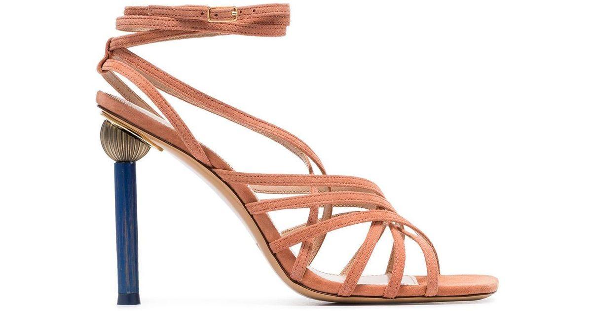 Pisa Mismatched Suede Sandals Heel Multicolor Jacquemus kuOPiZX