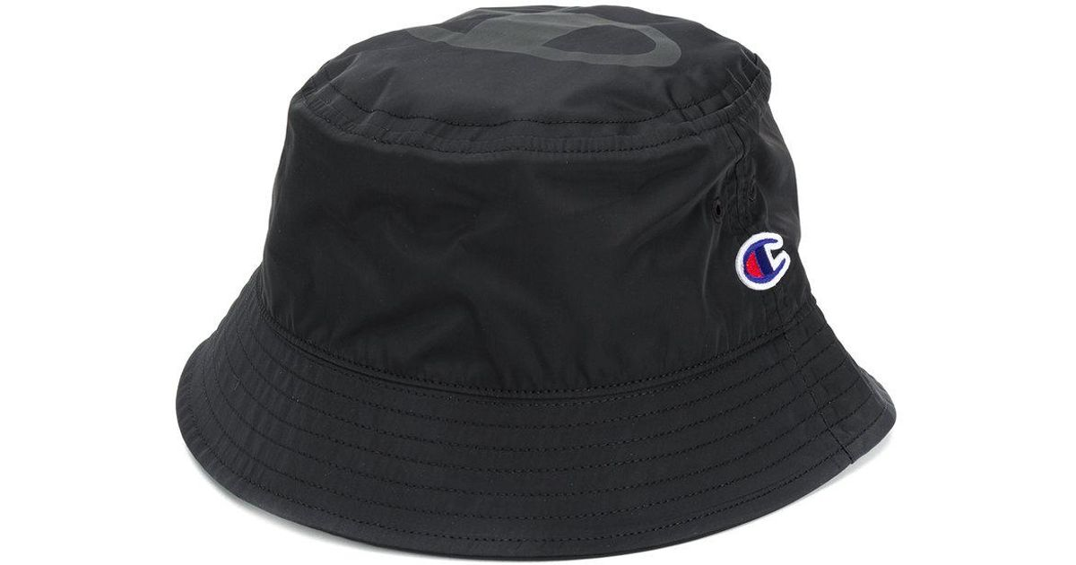 a8d67e3acf4ed ... new arrivals lyst champion logo bucket hat in black for men a174a 31910