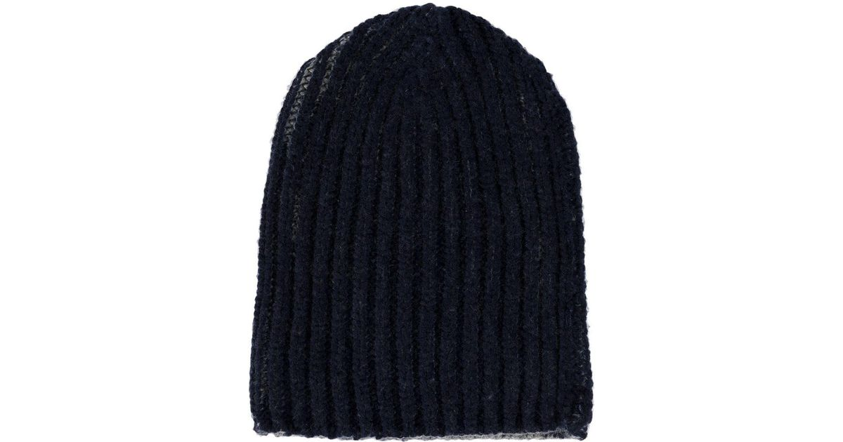 a8b20af5c17 Warm-me Cable Knit Beanie in Blue - Lyst