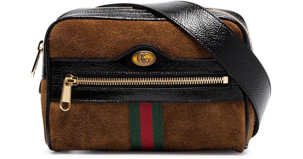 e4771cfa44c Gucci Brown Ophidia Small Suede Belt Bag