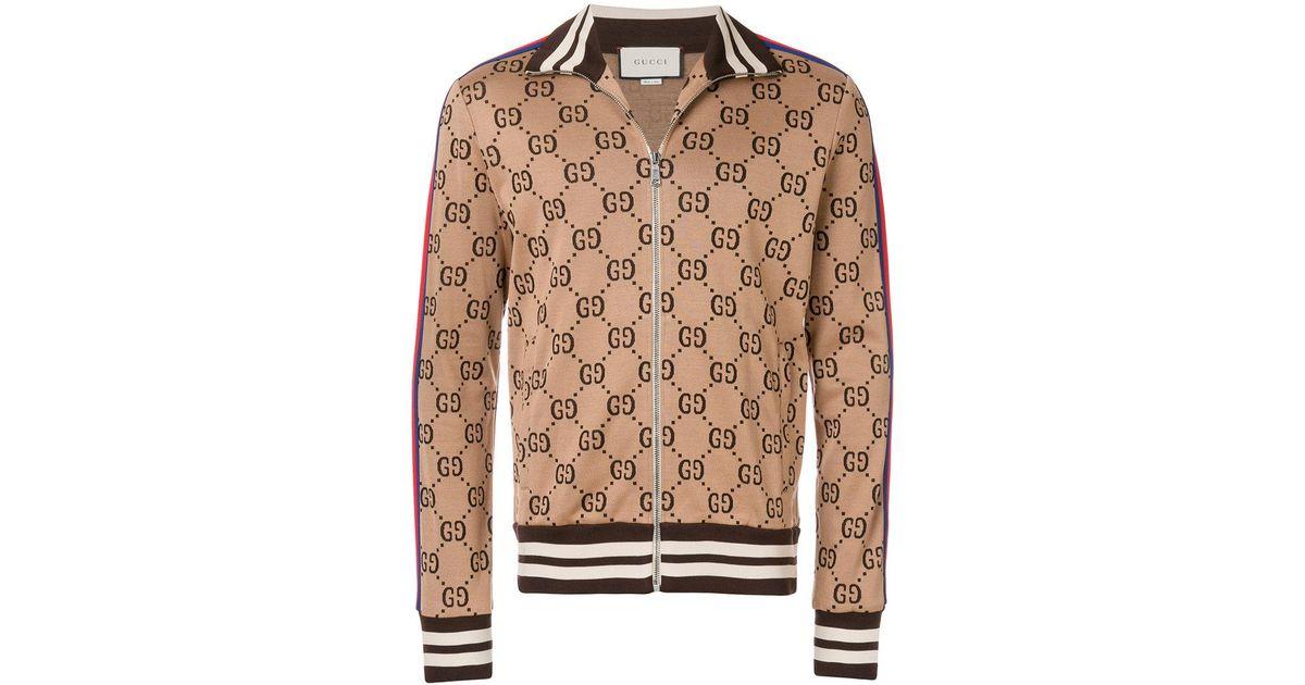 9b1013fae82 Lyst - Gucci Gg Jacquard Sweatshirt in Brown for Men