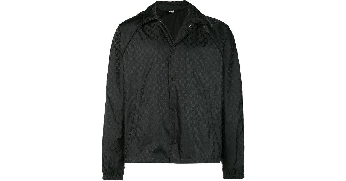 075459621df7 Gucci Supreme Jacquard Windbreaker in Black for Men - Lyst