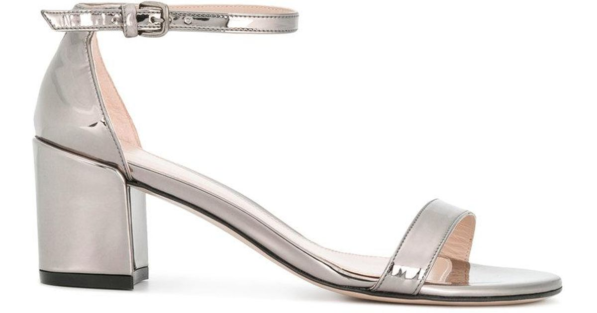Weitzman Metallic Glass Sandals Simple Stuart dxhrtsCQ