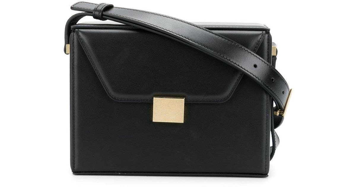 0abe64bdfd87 Victoria Beckham Black Square Structured Shoulder Bag