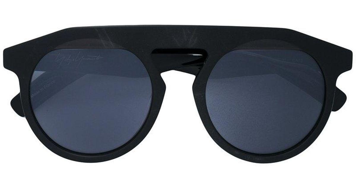 52a3fca2015 Yohji Yamamoto Thick Rimmed Sunglasses in Black for Men - Lyst