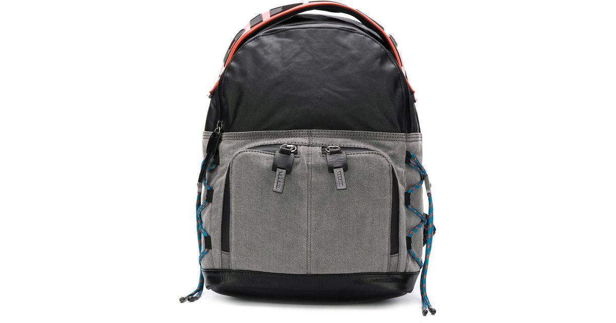 ccd6e6460dec5e DIESEL D-master Backpack in Black for Men - Lyst