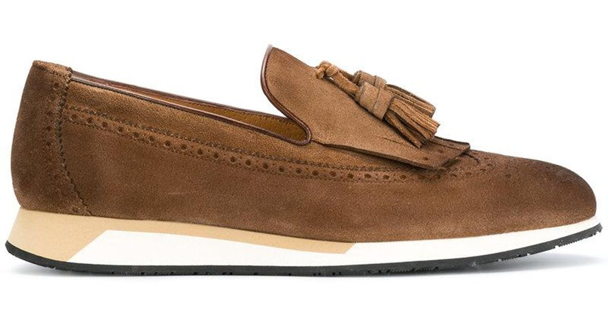 wedge sole loafers - Brown Santoni Outlet Get Authentic PspTGBFrDH