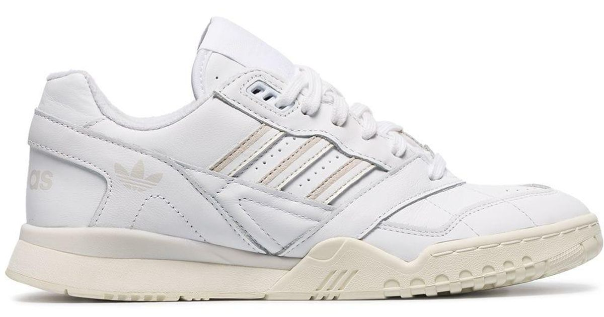 Adidas White Chunky Leather Low Top Sneakers