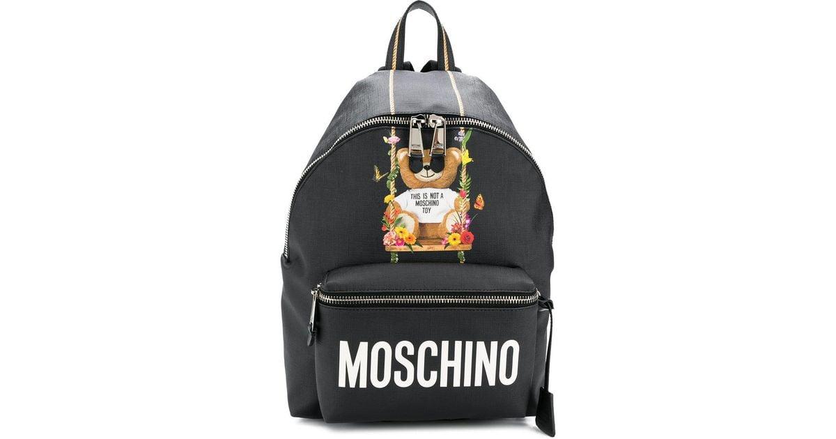 Teddy Black Moschino Lyst Backpack In Big qYXXE