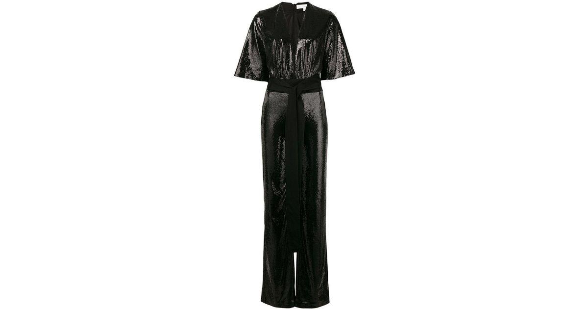 e414491fa87 Lyst - Galvan London Galaxy Sequin Jumpsuit in Black
