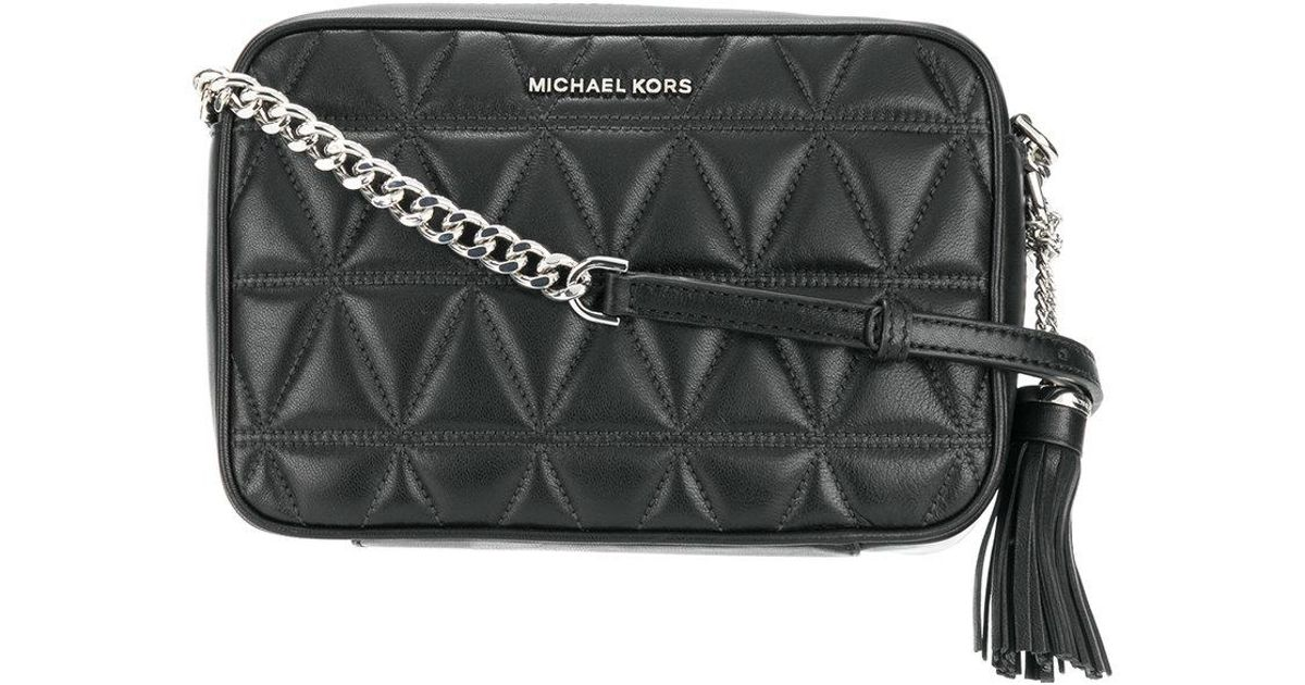 41cebb96f13c MICHAEL Michael Kors Ginny Quilted Crossbody Bag in Black - Lyst