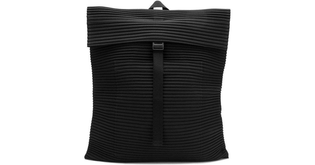 In Detail Men Homme Backpack Lyst Plissé Black Issey Miyake For Ribbed xx6IYq