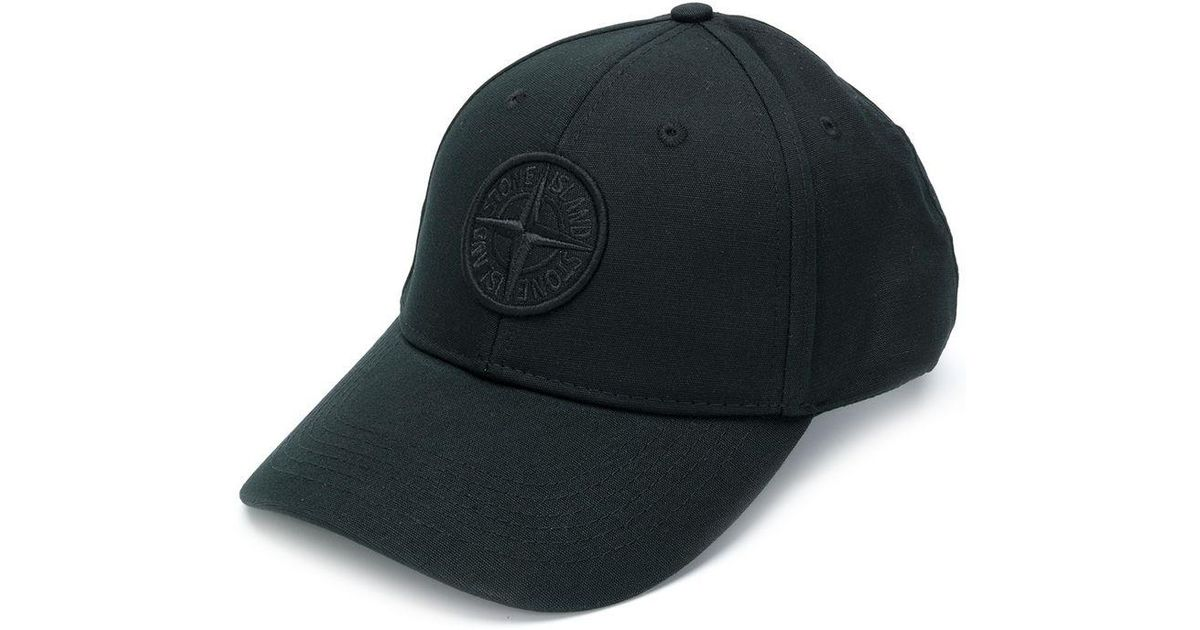 plus de photos de5d6 0f0b3 Casquette à logo brodé Stone Island pour homme en coloris Black