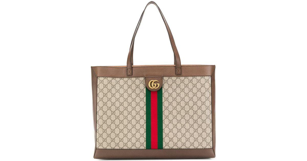 83088dd81ca056 Gucci Ophidia Shopper Bag in Brown - Lyst
