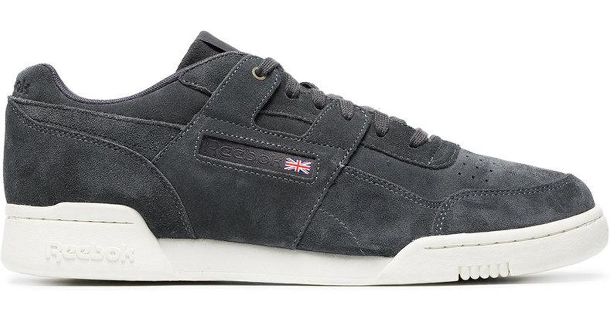 95c95c0a316 Reebok Black Workout Plus Mcc Suede Sneakers in Black for Men - Lyst
