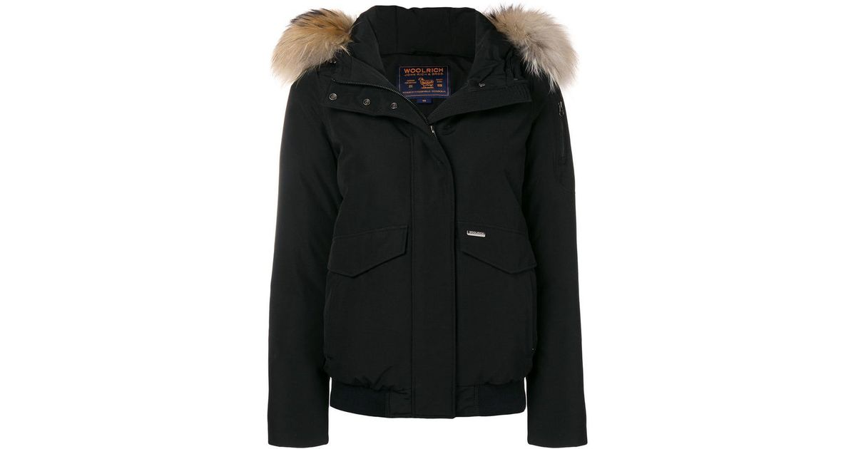 the latest 1e720 4a9c9 Woolrich Black 'Minerva' Jacke