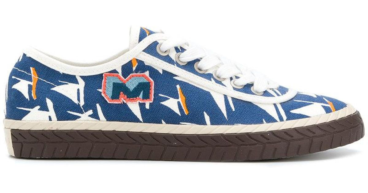 sailboat printed sneakers - Blue Marni Reliable 3W0vk