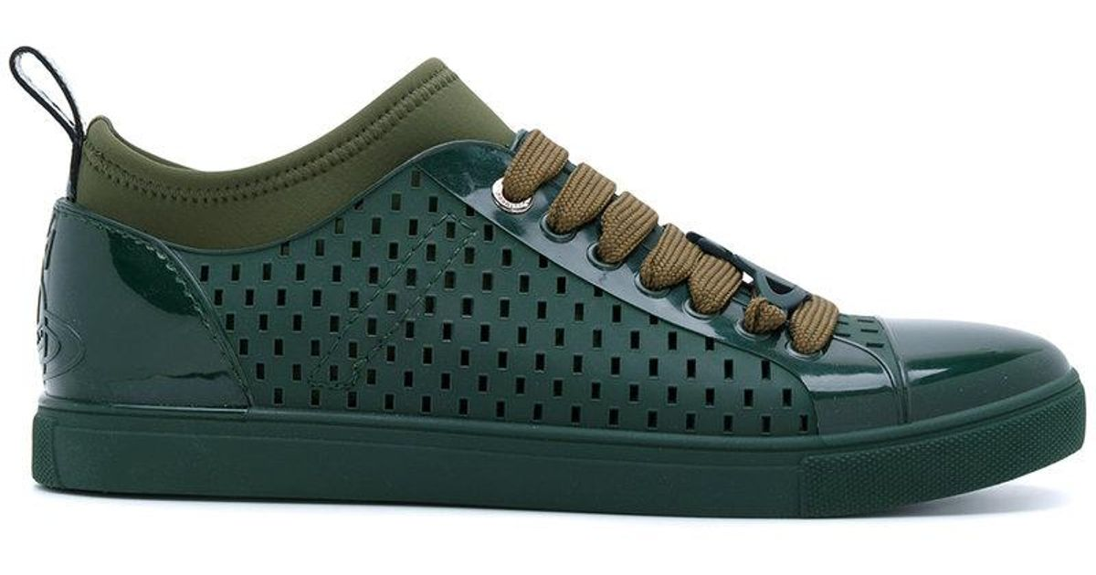 824055d4715cee Lyst - Vivienne Westwood Perforated Sneakers in Green for Men
