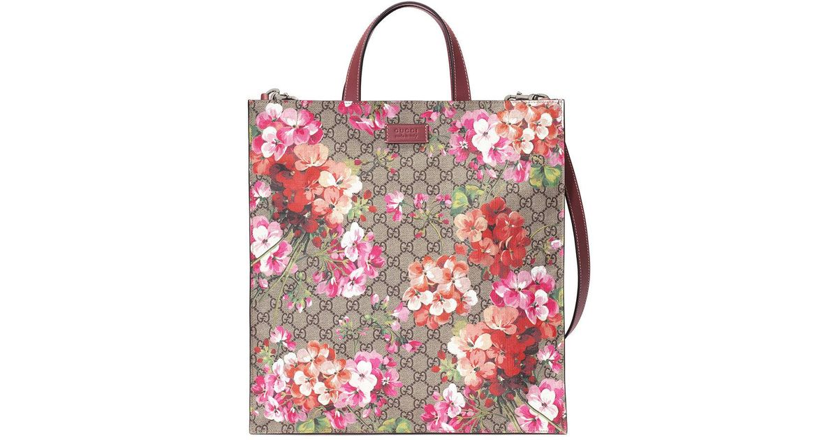 95d97dc3a220e9 Gucci Soft Gg Blooms Tote in Brown - Lyst