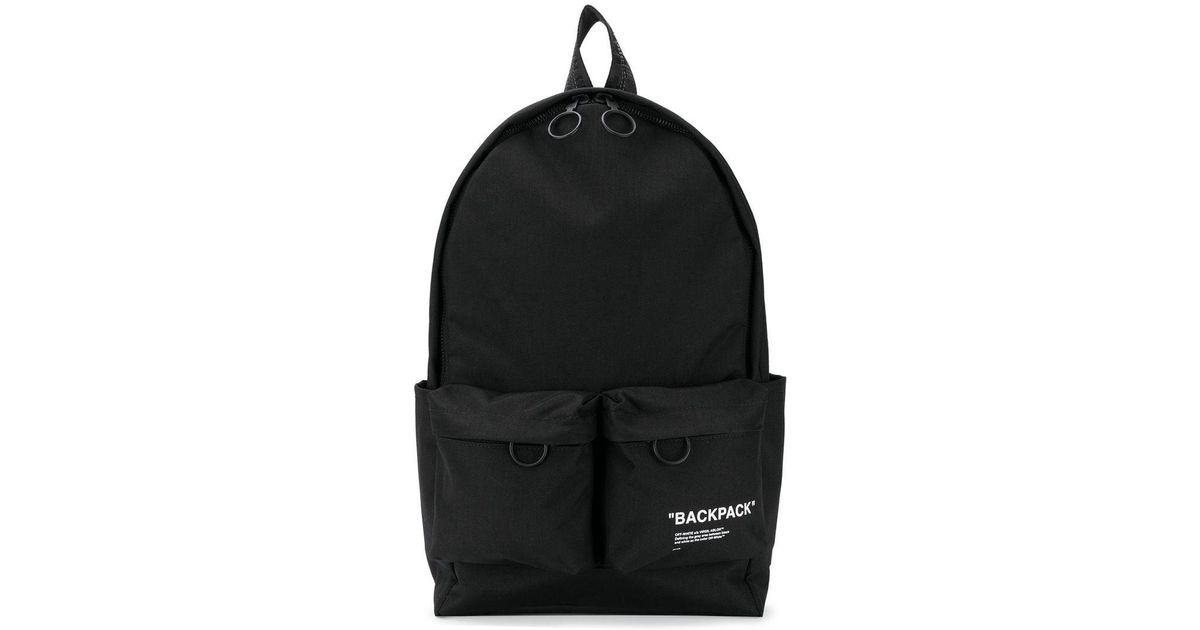 b40a281a87edc0 Off-White c/o Virgil Abloh Quote Backpack in Black for Men - Save 38% - Lyst