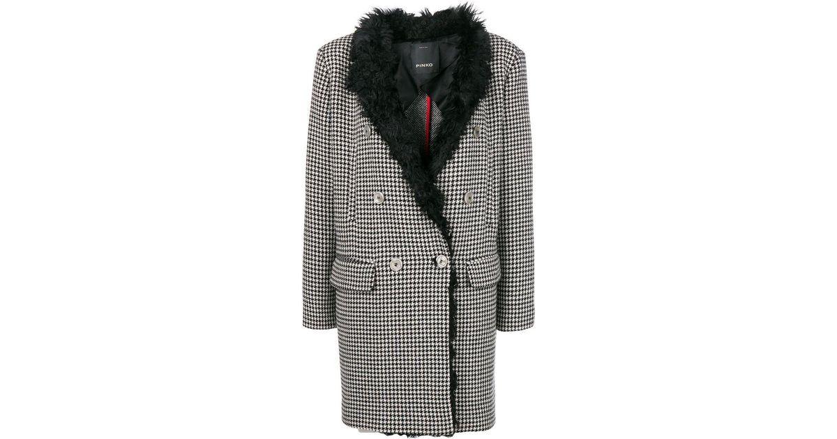 Coat Ermanno Breasted Noir Buttoned Single Scervino pgq0UU
